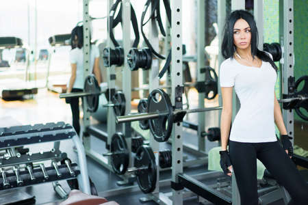 girl fitness: Sports young girl in fitness club