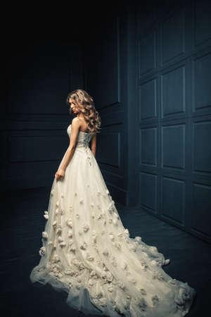 beautiful cinderella: Beautiful young girl in a white dress