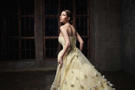 beautiful cinderella: Young beautiful girl in the studio