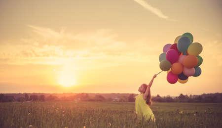 풍선 어린 소녀