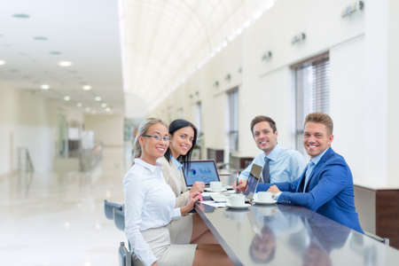 people office: Young business people in office