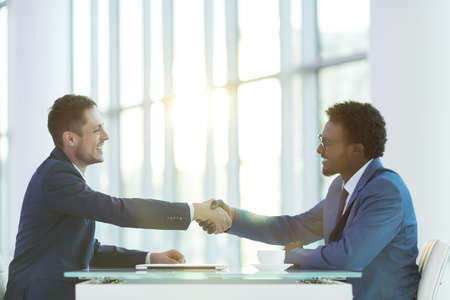 business partner: Business partners in office