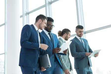 team leadership: Business people in office