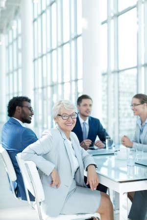 Senior businesswoman in office photo