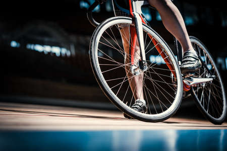 Bicyclist at cycle track Stock Photo - 70227890