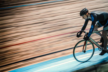 velodrome: Racing cyclist on velodrome