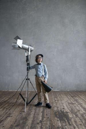 cinematographer: Little boy in studio