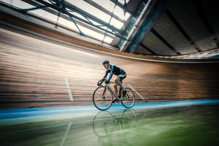 velodrome: Active sportsman on a velodrome