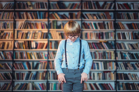 Little child in library photo