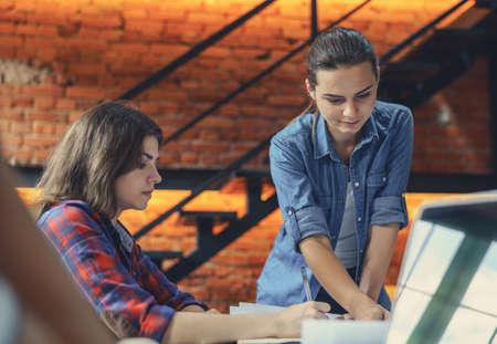 Working people in the loft Reklamní fotografie