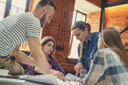 Teamwork at meeting in workplace Reklamní fotografie