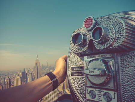 Binoculars in a skyscraper in New York Reklamní fotografie