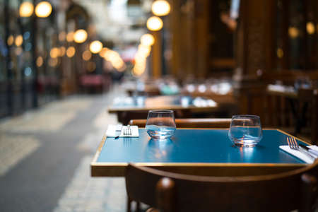 Served table in the restaurant Reklamní fotografie