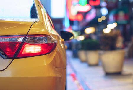 Yellow taxi close up Reklamní fotografie
