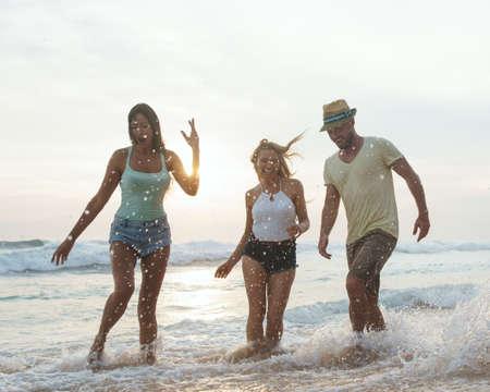 Happy young people on weekends Reklamní fotografie