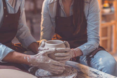 Human hands at work