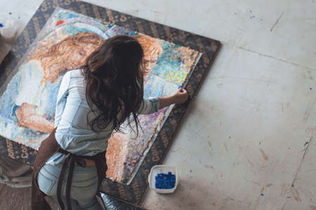 Working girl with mosaic