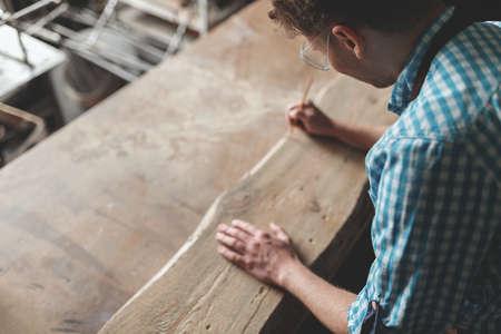Young master at work Reklamní fotografie
