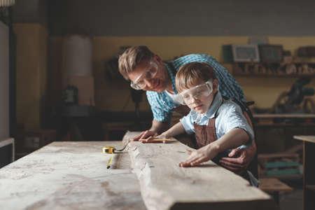 Father and son in uniform Reklamní fotografie