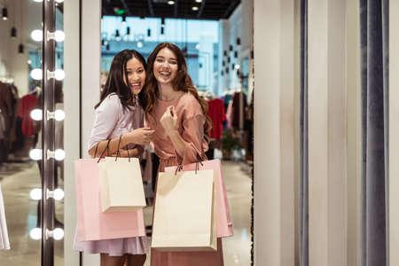 Beautiful young girl with shopping bags