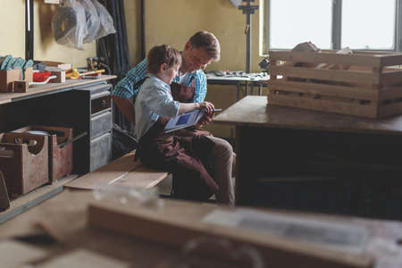 Parent and child in carpentry