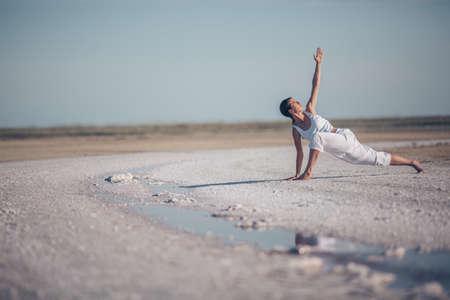 Young woman practicing yoga Reklamní fotografie