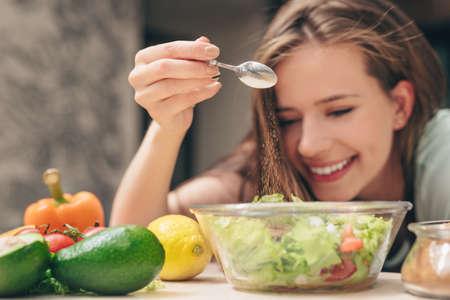 Smiling chef in the kitchen Reklamní fotografie