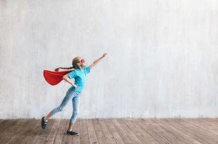 Little hero in studio Reklamní fotografie