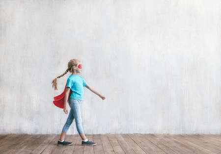 Little super girl Reklamní fotografie