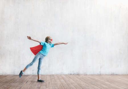 Flying little super hero