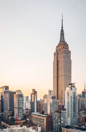Viejo rascacielos en la ciudad de Nueva York Foto de archivo