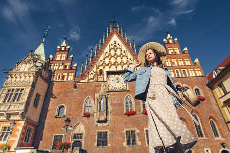 Young girl on a sunny day in Wroclaw