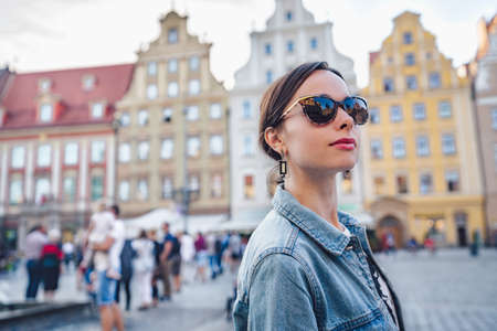 Young attractive girl in Wroclaw