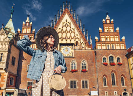 Young woman on a sunny day in Poland