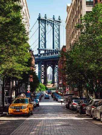 Famoso puente de manhattan en la ciudad de nueva york