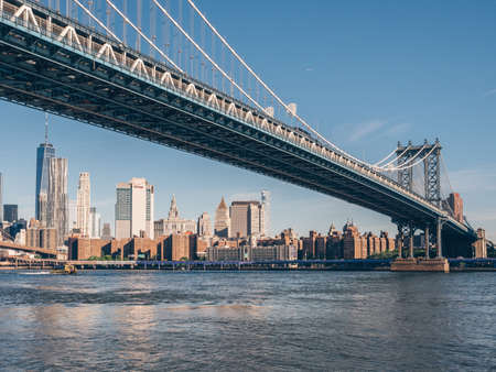Manhattan Bridge in New York City Stok Fotoğraf
