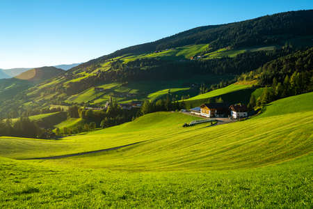View of the italian meadow Stock Photo