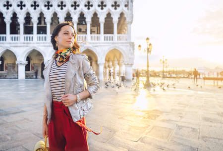 Smiling girl on the Piazza San Marco