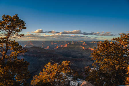 Winter view in the Grand Canyon National Park Stock fotó