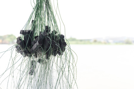 close up fishing net