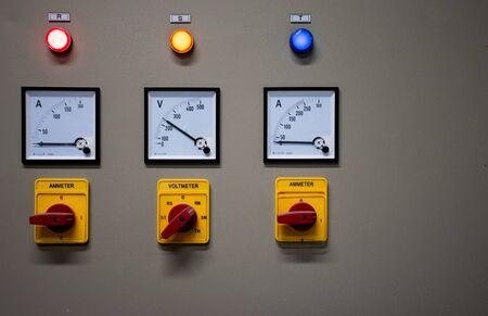 Close up Electrical control cabinet Фото со стока