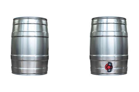 Beer keg isolated on white background Reklamní fotografie
