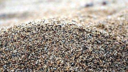 Close up of white sand beach