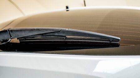 Close up the rear windshield wiper