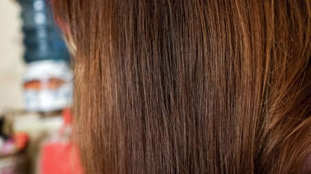 Close up brown hair