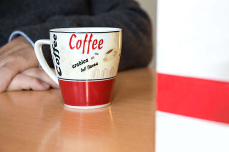 prudent: Coffe cup with milk box