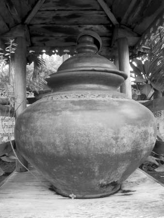 Thailand water drinking jar photo