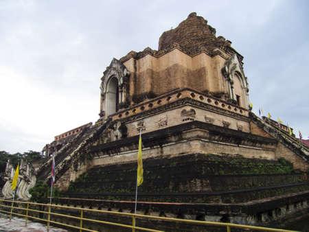 Wat Chedi Luang Worawihan, temple of the big stupa at Chiangmai Thailand  photo