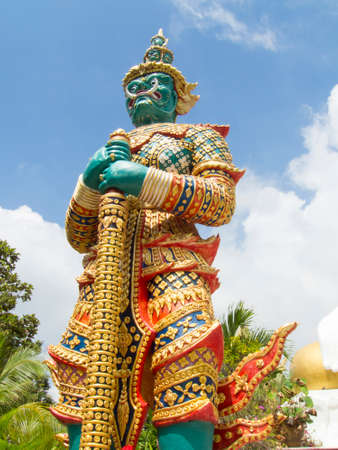 Giant guarding statue in Thailand Temple photo