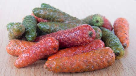 piperine: long pepper , Piper retrofractum Vahl Stock Photo